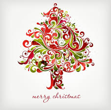 Christmas Swirls Floral Swirls Tree For Christmas Vector Graphic Free Vector