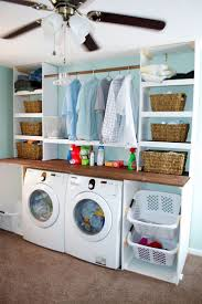 I like the hanging rack idea laundry room built-ins. Fabulous for the OCD  wife! - for our new laundry room!