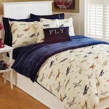thro twin vintage airplane comforter set in multi