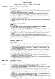 Senior Data Architect Resume Samples Velvet Jobs