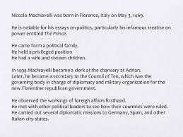 "by essay machiavelli prince niccolo machiavellis ""the prince"" essay sample best essay help"
