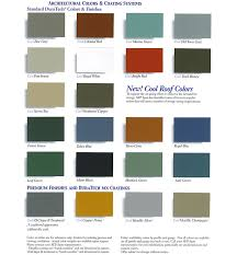 Cool Deck Paint Color Chart Valspar Color Chart High Quality Metal Roofing Panels And