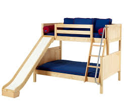 MaxtrixSLICK Twin over Full Bunk Bed with Slides bedroom furniture twin and  full bunk bed with