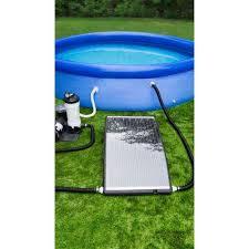 slim line above ground swimming solar pool heater