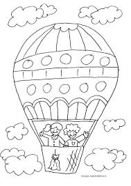 Disegno Da Colorare Per Bambini La Mongolfiera Accoglienza