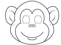 7691e8177775d9d7e95030aabad83768 monkey template mdb felt crafts pinterest mask template on happy face mask template