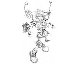 Small Picture Kingdom Hearts Coloring Pages Kingdom Hearts Colouring Pages 19321
