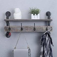 mbqq industrial pipe wall coat rack