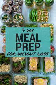 Meal Prep Chart 7 Day Meal Plan For Weight Loss