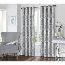 l silver grommet curtain