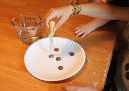 simple chemistry experiment clean pennies vinegar chemical simple chemistry experiment clean pennies vinegar