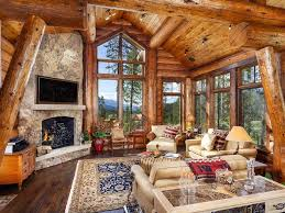 best 25 log cabin living ideas