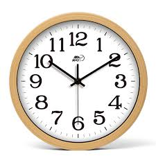 wall clock for office. Round Wall Clock 10 Inch Wood Hanging Rustic Bedroom Cheap Office For M