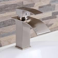 cool bathroom sink faucets. elite modern bathroom sink waterfall faucet brushed nickel 8803bn sinks, stone sink,kitchen sink,stainless steelsink, bathroom, sink, glass cool faucets