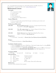 Professional Resume Format For Freshers Fresher Resume Sample