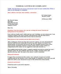 complaint letter samples food service complaint letter