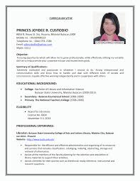 First Time Job Resume Examples