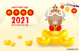 As chinese zodiac is calculated by the chinese lunar calendar and it does not completely accord with your birthdays in the solar calendar. Happy Chinese New Year 2021 Greeting Card Little Ox Holding Chinese Gold And Lion Dance Year Of The Ox Zodiac Cartoon Isolated Vector Illustration Translation Greetings Of The Chinese New Year