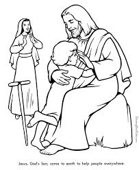 Small Picture Jesus Bible coloring pages to print 027