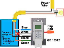 how to wire ge sunsmart timer for single pole way do not use this wiring diagram install intermatic st01 instead this wiring is against national electric code and manufacturer does not recommend