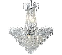 searchlight limoges 6 light chandelier chrome finish with sunflower crystal drops 9071 52cc