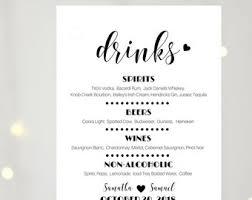 wedding drink menu. Cheers wedding bar sign Wedding drink menu template Bar signs