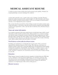 Medical Assistant Resume Objective Examples Of Resumes Office