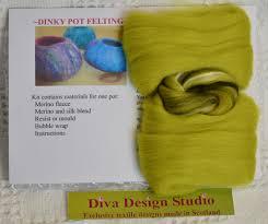 Diva Design Studio Dinky Pot Felting Kit By Diva Design Forest Green 39po