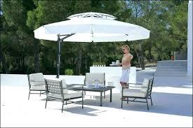 fearsome 11 foot offset patio umbrella hampton bay 11 ft led offset patio umbrella in sunbrella