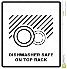 dishwasher clipart black and white. dishwasher safe on top rack symbol isolated. sign isolated, vector illustration. clipart black and white