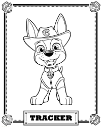 Marshall Coloring Pages With Paw Patrol Rocky And Marshall Coloring