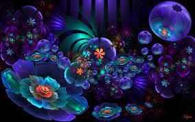 Neon Flowers Background - 2560x1600 ...