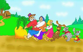 Репка - русская народная сказка. Текст. Читать сказку. Детские сказки.  Посадил дед репку... Содержание. Читать онлайн.