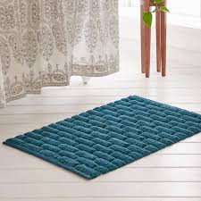bathroom mesmerizing bath mat with beautiful design and color for wondrous blue bath mat and wooden floor