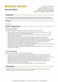 Resume Template Office Impressive Accounts Officer Resume Samples QwikResume
