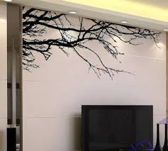 bold design tree branch wall decor diy decorative mirror frame metal sculpture natural decoration d