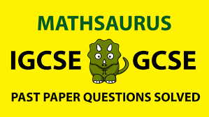 quadratic simultaneous equations igcse gcse exam questions