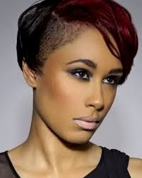 best short black hairstyles shaved sides