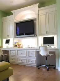 home office designs for two. Interesting Home Office Design For Two People: Good Looking Person Computer Desks Made By Wooden Feats Light Green Wall Color Laminate Designs O
