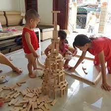 Bộ gỗ xếp hình, đồ chơi rút gỗ thông minh rèn tư duy cho bé loại đẹp - (Rút  gỗ + xếp hình + Domino)