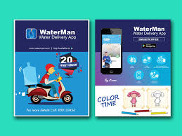 Design Flyer App Entry 31 By Dristy696 For Design Flyer For Water Delivery