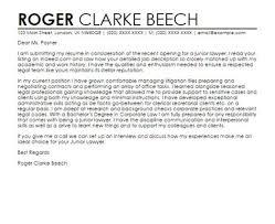 Cover Letter For Junior Lawyer Sample