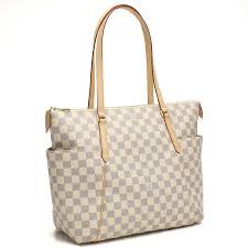 louis vuitton white bag. louis vuitton (louis vuitton) damier, azure standard tote bag n41279 white grey series r