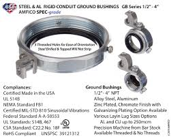 Conduit Ground Bushings Steel Made In The Usa American