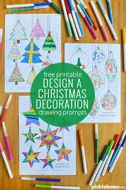 design a decoration free printable drawing prompts