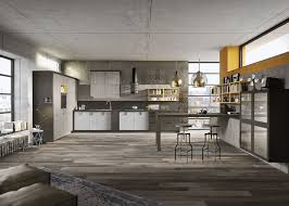This urban Loft kitchen design (above) uses the same elements as the one  with the modern look but it features the weathered looking Fossil Oak  melamine ...