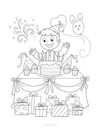 Birthdays are for both children and adults. 55 Best Happy Birthday Coloring Pages Free Printable Pdfs