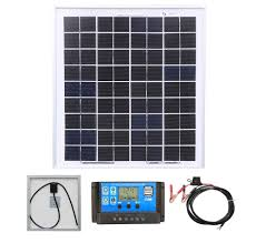<b>Solar Power Kits</b>: Poly <b>10W Solar Panel Kit</b> 1
