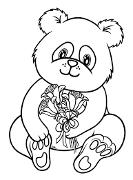 Small Picture Coloring Pages Draw A Cartoon Panda olegandreevme