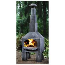 castlecreek outdoor cooking steel chiminea   fire pits